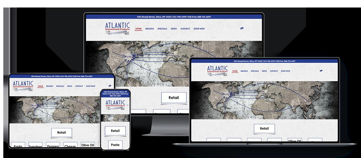 Atlantic International Products Responsive Website